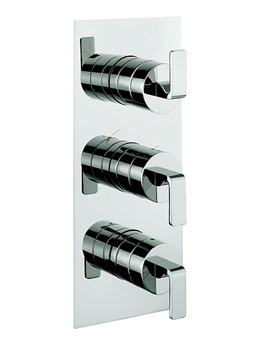KH Zero 1 Thermostatic 3 Control Shower Valve With 3 Way Diverter