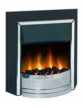 Related Dimplex Zamora Manual Control Outset Electric Fire Black-Chrome ZAM20