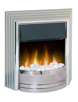 Related Dimplex Castillo Manual Control Outset Electric Fire Chrome | CST20
