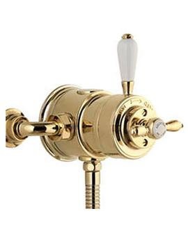 Aquatique Thermostatic Exposed Shower Valve Gold - 500.10.04