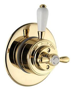 Aquatique Thermostatic Concealed Shower Valve Gold 500.00.04