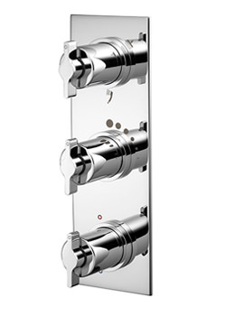 Silver Triple Control Shower Valve With 3 Way Diverter