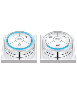 Veris F Chrome Digital Controller And Digital Diverter For Bath
