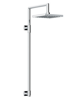 Euphoria Exposed Rigid Riser With 200mm Square Showerhead