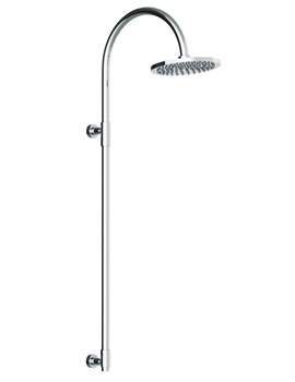 Euphoria Exposed Rigid Riser With 200mm Circular Showerhead