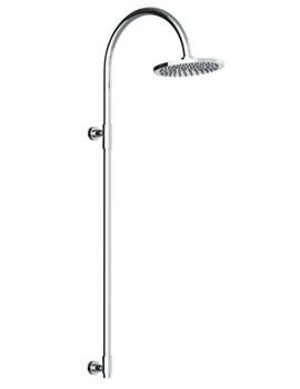 Euphoria Exposed Rigid Tubular Riser With Showerhead - AB2310