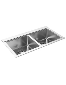 Logik Two Bowl Kitchen Sink - AW5022