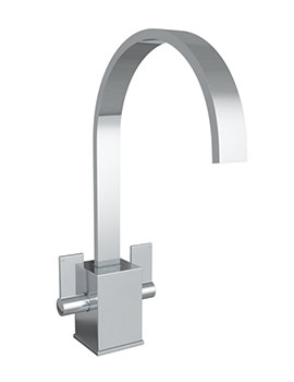 Contemporary Atik Chrome Monobloc Kitchen Mixer Tap