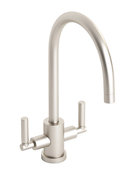 Abode Atlas Monobloc Kitchen Tap Brushed Nickel - AT1054