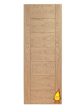 Related XL Internal Palermo Oak Fire Door - INTOPAL27-FD
