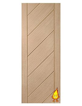 Related XL Internal Monza Oak Fire Door - INTOMON27-FD