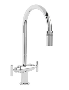 Avior Chrome Pull Out Kitchen Mixer Tap