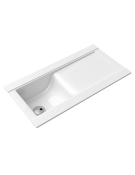Tydal White Glaze 1.0 Bowl Reversible Kitchen Sink - AW1002
