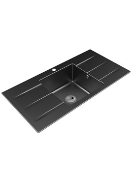 Zero One Bowl Kitchen Sink With Double Drainer - AW3008
