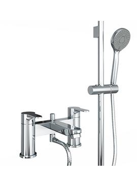 Related Abode Debut Deluxe Deck Mounted Bath Shower Mixer Tap With Kit