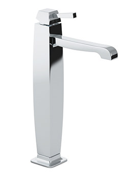 Decadence Tall Single Lever Basin Mixer Tap With Pop-Up Waste