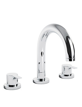 Desire Thermostatic Deck Mounted 3TH Bath Mixer Tap - AB3004