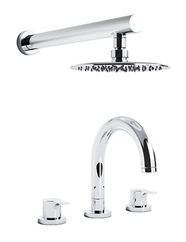 Desire Thermostatic 3TH Bath Mixer Tap And Showerhead - AB3064