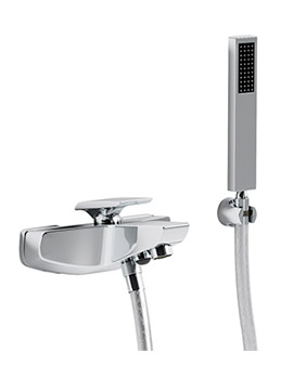 Extase Wall Mounted Bath Shower Mixer Tap With Kit - AB1034