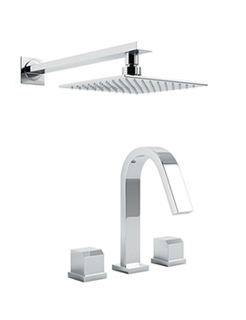 Extase Thermostatic 3 Hole Bath Mixer Tap And Showerhead