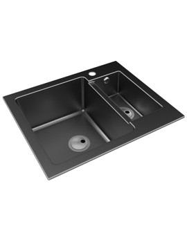 Related Abode Zero 1.5 Bowl Reversible Kitchen Sink - AW3005