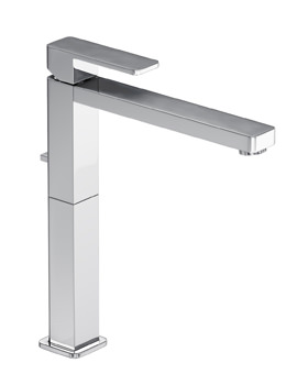 Fervour Tall Single Lever Basin Mixer Tap With Pop-up Waste