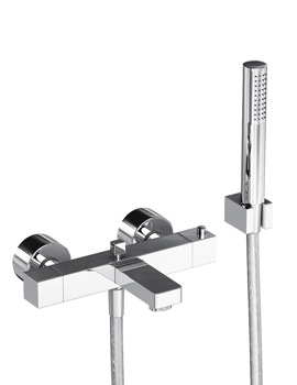 Fervour Thermostatic Wall Mounted Bath Shower Mixer Tap - AB1247