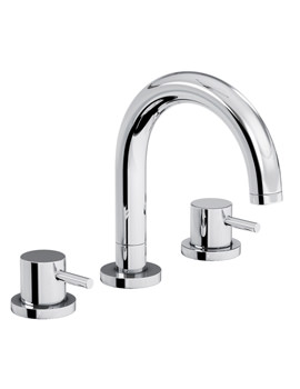 Harmonie Thermostatic Deck Mounted 3TH Bath Mixer Tap - AB3001