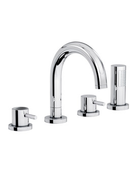 Harmonie Thermostatic 4TH Bath Shower Mixer Tap - AB3021