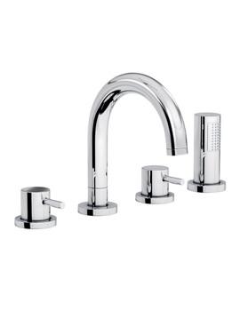 Harmonie Thermostatic 4TH Bath Shower Mixer Tap - AB3021