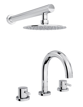 Harmonie Thermostatic 3TH Bath Mixer Tap And Shower - AB3061