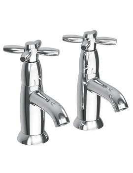 Abode Opulence Chrome Bath Pillar Taps - AB1657