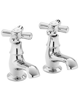 Ryde Pair Of Basin Pillar Taps Chrome - TRHC00
