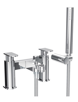 Rapture Bath Shower Mixer Tap With Shower Handset And Hose