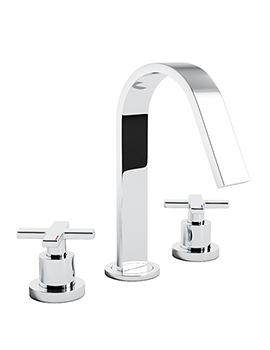 Serenitie 3 Piece Deck Mounted Basin Mixer Tap - AB1069