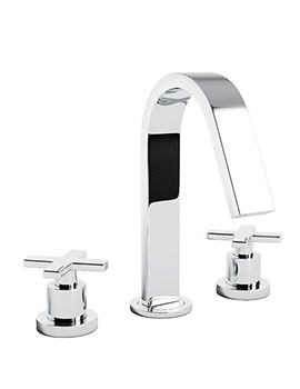 Serenitie 3 Piece Deck Mounted Bath Filler Tap - AB1068