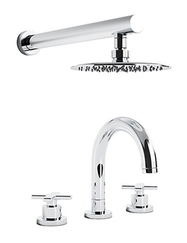 Serenitie Thermostatic 3TH Bath Mixer Tap And Showerhead