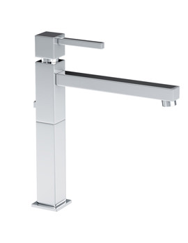 Zeal Tall Single Lever Basin Mixer Tap With Pop-up Waste - AB1273