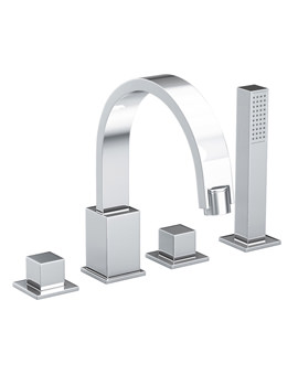 Zeal 4 Hole Bath Filler Tap With Diverter - AB1279