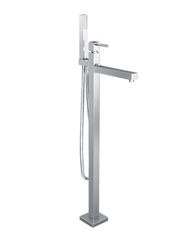 Zeal Floor Standing Bath Filler Tap With Shower Kit - AB1281