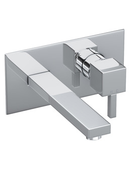 Zeal Wall Mounted Chrome Basin Mixer Tap - AB1276