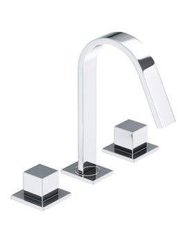 Zeal Deck Mounted 3 TH Basin Mixer Tap Chrome - AB1290