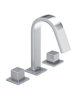 Zeal Deck Mounted 3TH Bath Mixer Tap Chrome - AB1291