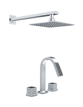 Zeal Thermostatic 3TH Bath Mixer Tap And Showerhead - AB3068