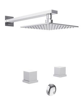 Zeal Thermostatic 2 Hole Bath Overflow Filler Kit - AB3088