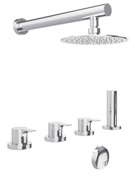 Abode desire Thermostatic 4 Hole Bath Overflow Filler Kit - AB3104