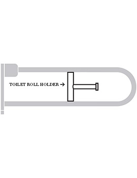 Contour 21 White Toilet Roll Holder For Hinged Arm Rail