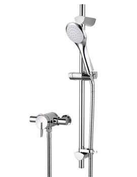 Sonique Sequential Thermostatic Shower With Adjustable Riser
