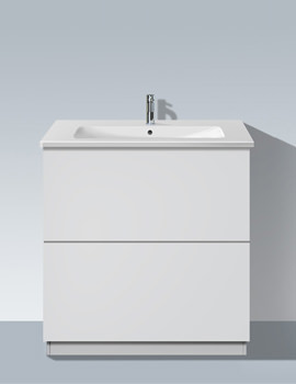 L Cube 820mm Vanity Unit With Plinth Panel And Me By Starck Basin