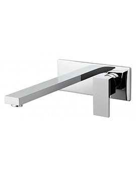 Notion 2 Hole Basin Mixer Tap With Extended 220mm Spout